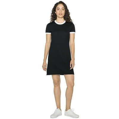Women`s Poly-Cotton Ringer T-Shirt Dress