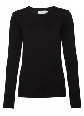 Ladies Crew Neck Knitted Pullover