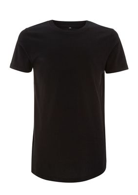 MENS LONG T-SHIRT - BLACK - S