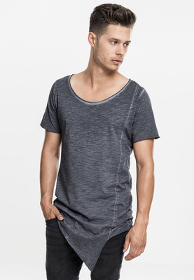 Asymetric Long Spray Dye Tee darkgrey L