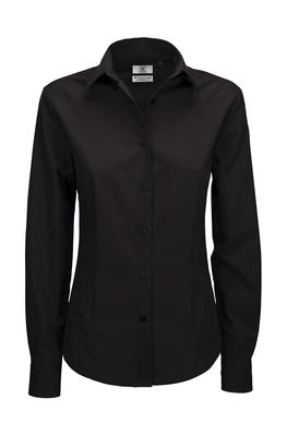 Ladies` LS Poplin Shirt - SWP63