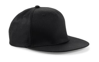 BEECHFIELD CANVAS 5 PANEL BASEBALL CAP HAT B654 NAVY BLACK URBAN